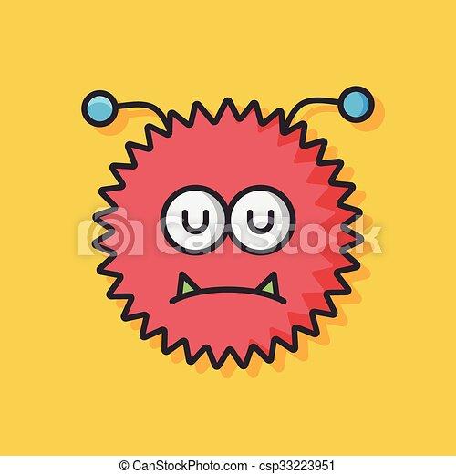 bacteria virus vector icon - csp33223951
