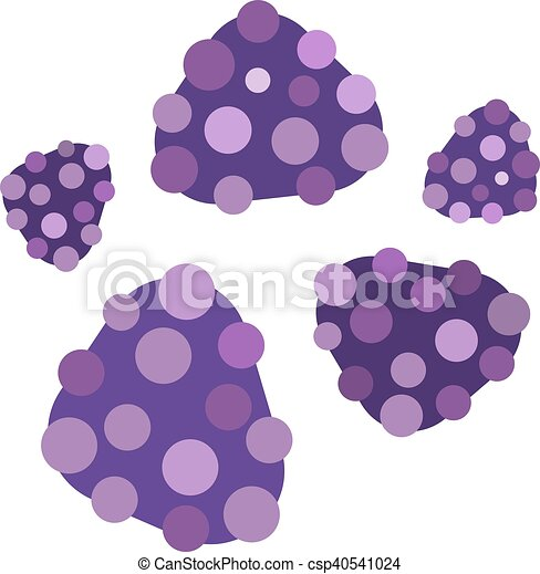 Bacteria virus vector icon - csp40541024