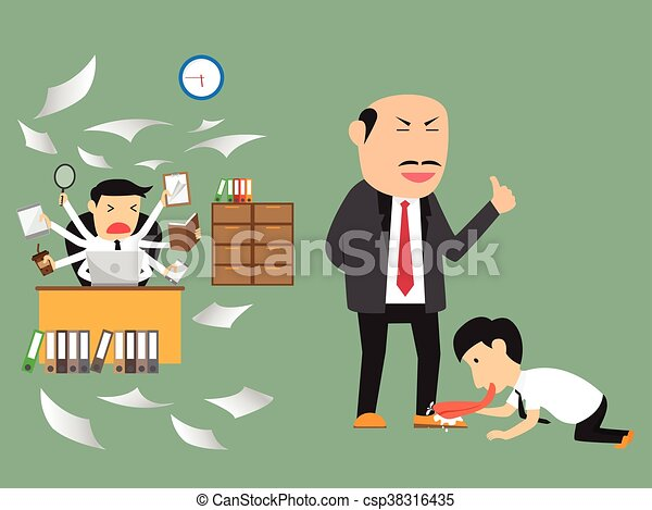 Concept Bad bad and employee practice business concept vector vectors