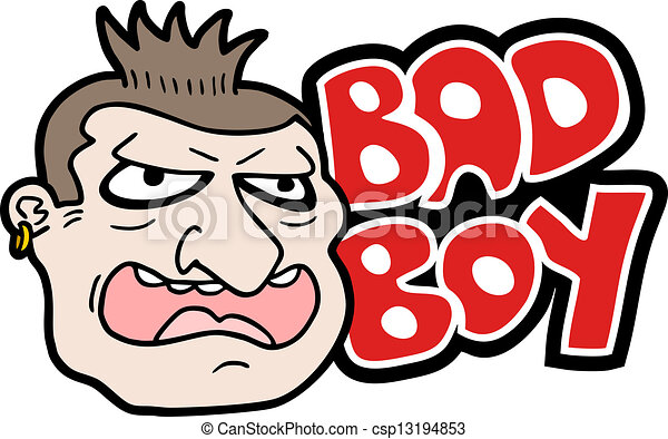Creative Design Of Bad Boy Clipart Vector - Search Illustration