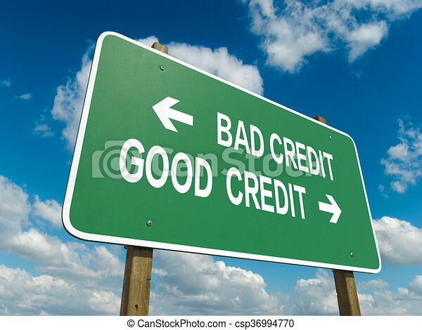 bad credit good credit - csp36994770