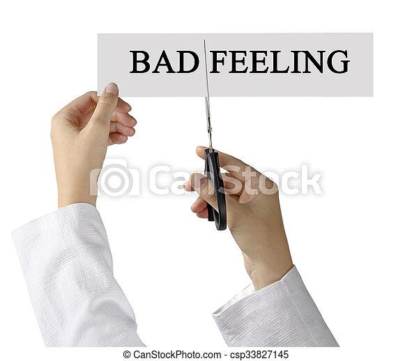 Bad feelings - csp33827145