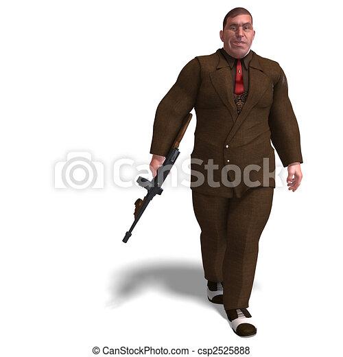 bad mafia gun man - csp2525888