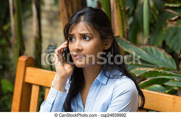 Bad news on phone - csp24839992