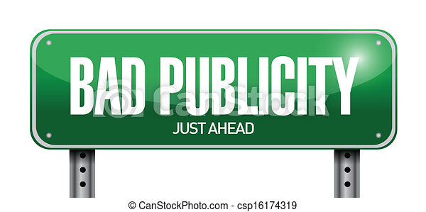 bad publicity road sign illustration design - csp16174319