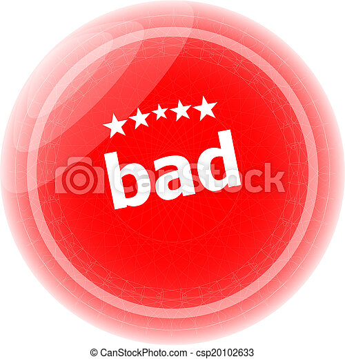 bad word on red stickers button, label - csp20102633