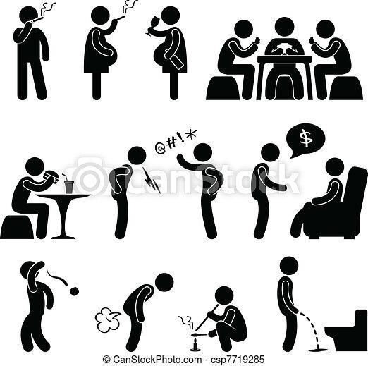 Bad Wrong behaviour Habit Lifestyle - csp7719285