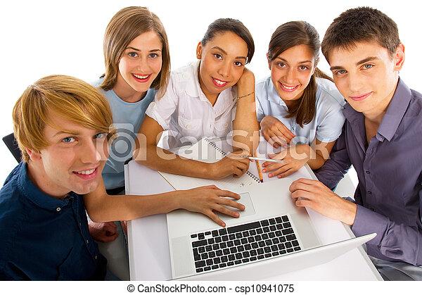 badając, nastolatki, razem - csp10941075