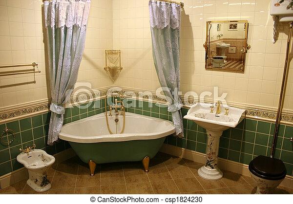 Badezimmer, 2, grün.