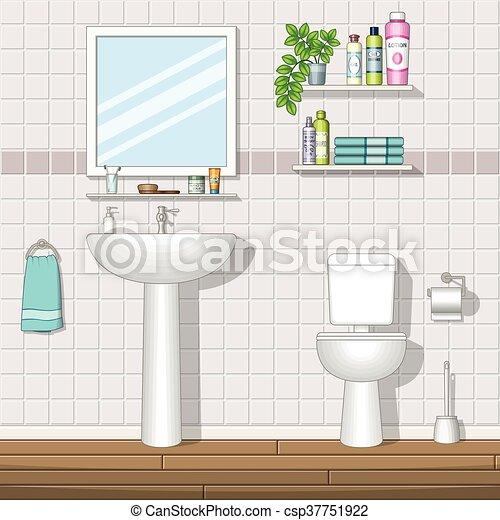 badezimmer, abbildung
