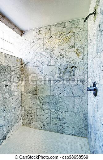 Badezimmer Dusche Fliese Fenster Interior Klein Marmor Kabine Badezimmer Dusche Fliese Wande Fenster Interior Canstock