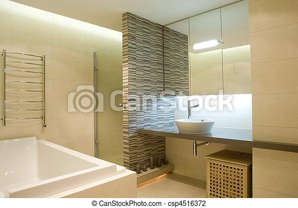 Badezimmer Inneneinrichtung Canstock