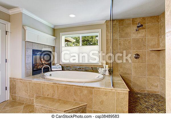 Stock Foto   Badezimmer, Klassisch, Bad, Amerikanische , Whithe, Wanne