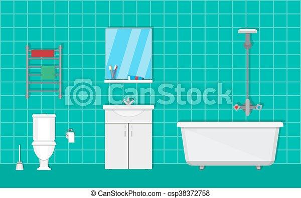 Badezimmer, Möbel   Csp38372758