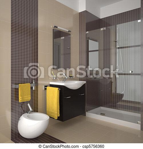 Badezimmer, modern, beige. Badezimmer, furniture., fliesenmuster ...