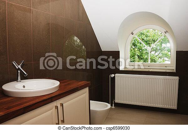 badezimmer, modern, fenster