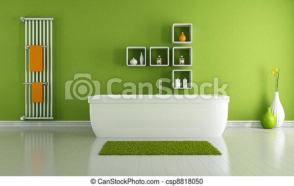 badezimmer, modern, grün
