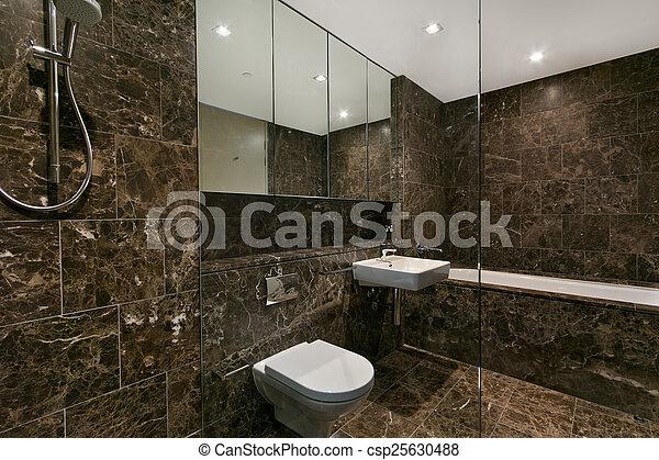 badezimmer, wohnung, modern, luxus