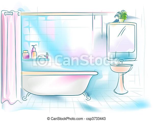 Badezimmer Clip-Art und Stock Illustrationen. 50.845 Badezimmer EPS ...