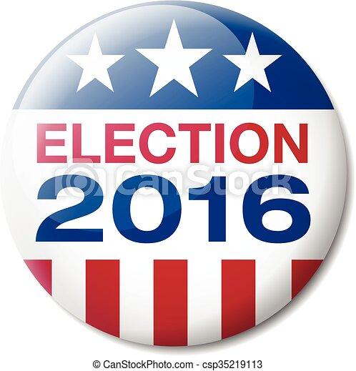 Badge Election 2016 - csp35219113