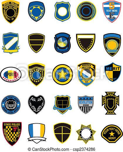 badge, element - csp2374286