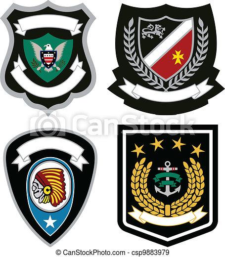 badge emblem set - csp9883979