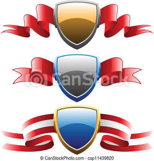 badge on ribbon set vector