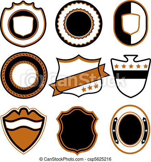 badge symbol design  - csp5625216