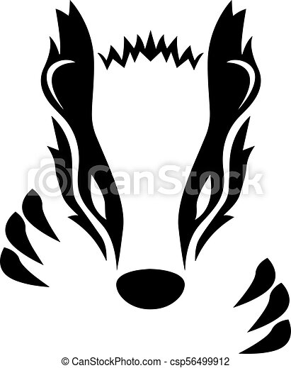 badger vector illustration sharp and simple black and vector rh canstockphoto com badger clipart png badger clipart png