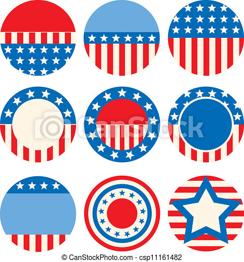 Badges A Set Of Icons With Symbols Of The Usa Vector Search Clip