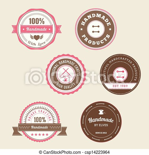 Badges For Handmade Products - csp14223964