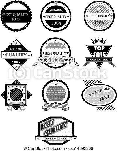 Badges vector set - csp14892366