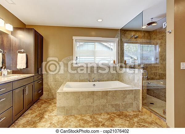 Dubbele douche in moderne badkamer badkamers voorbeelden