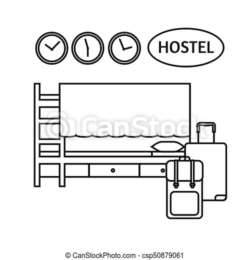 Badkamer, kamer, areas., bunk, hotel, begroting, bed,... clipart ...