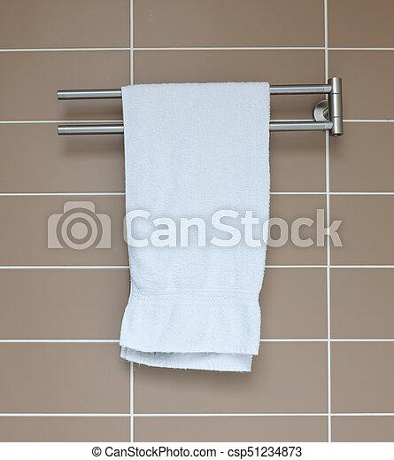 badkamer, moderne, handdoekring - csp51234873