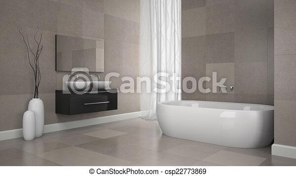Modern Badkamer Interieur : Badkamer muur moderne tegels interieur graniet badkamer