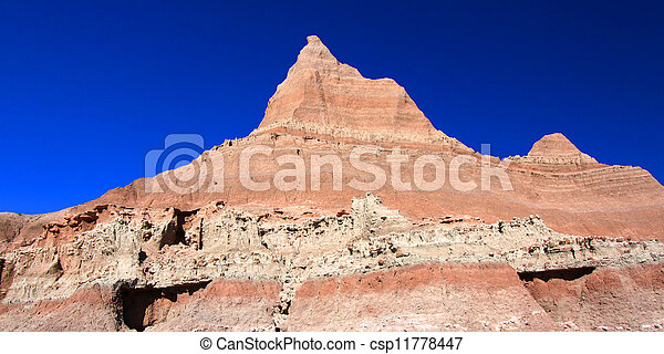 Badlands of South Dakota - csp11778447