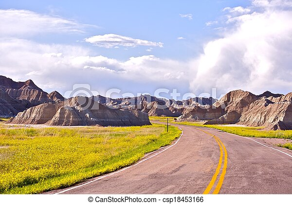 Badlands Road - csp18453166