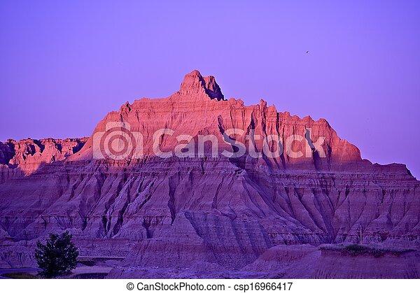 Badlands Sunset - csp16966417
