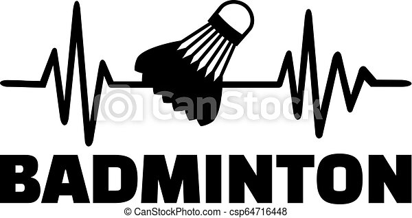 Badminton heartbeat line - csp64716448