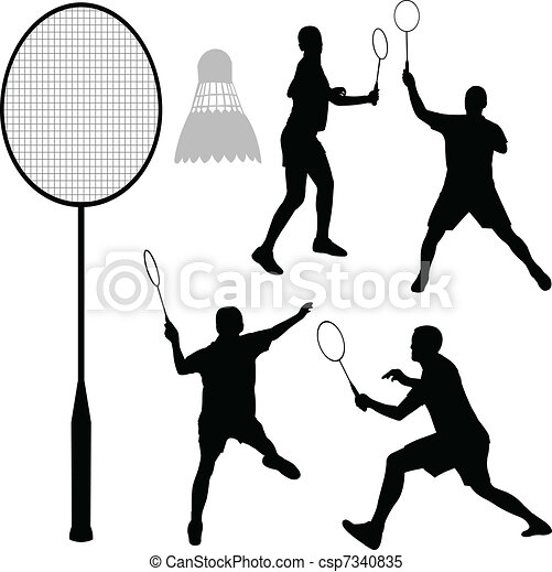 Badminton silhouettes - csp7340835