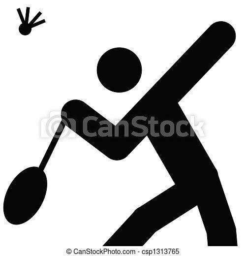 logo of badminton black silhouette of a man stock illustrations rh canstockphoto com badminton clip art black & white badminton clipart background