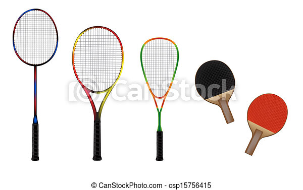 badminton, tennis, courge - csp15756415