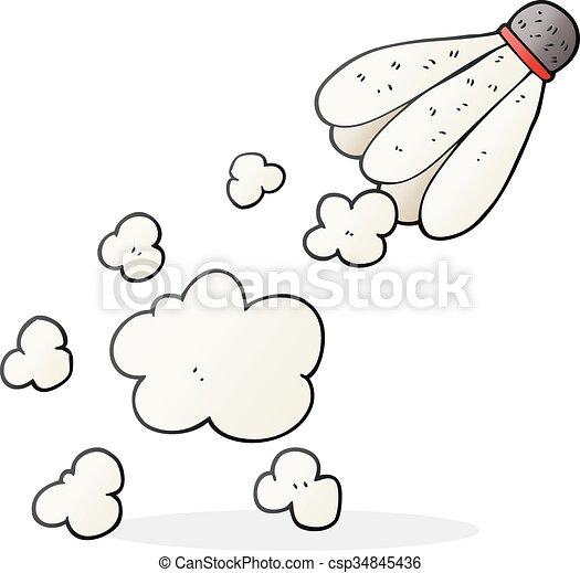 Freehand badminton volant dessin anim dessin - Dessin volant ...
