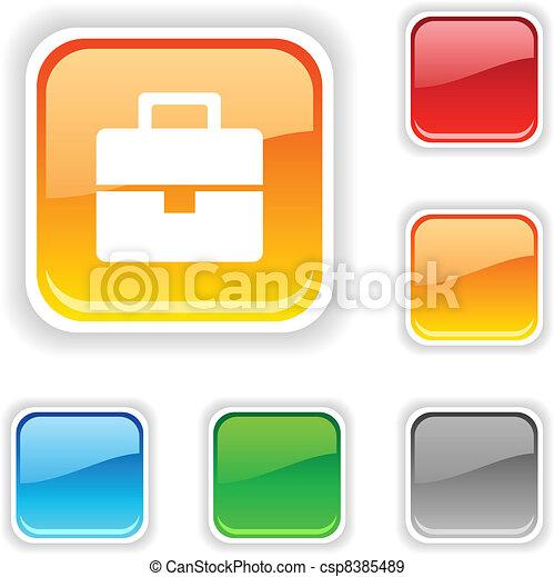 Bag button. - csp8385489