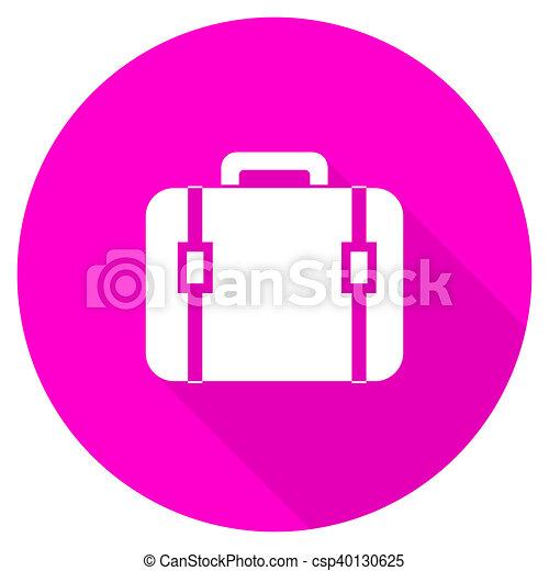 bag flat pink icon - csp40130625