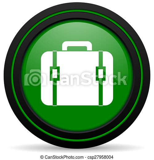 bag green icon luggage sign - csp27958004