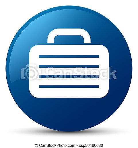 Bag icon blue round button - csp50480630