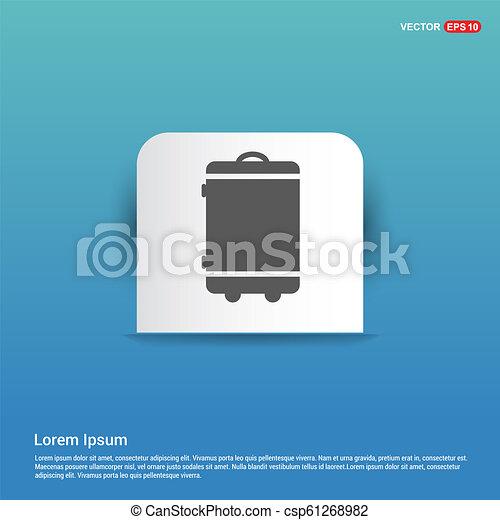 Bag icon - Blue Sticker button - csp61268982