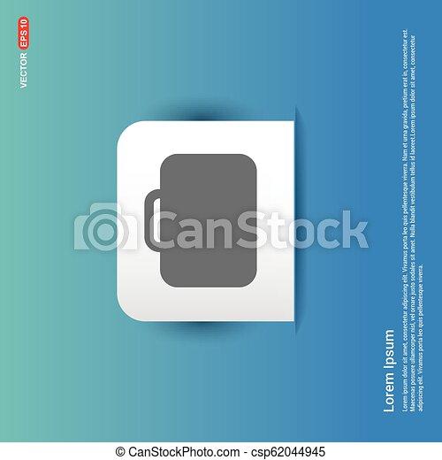 Bag icon - Blue Sticker button - csp62044945